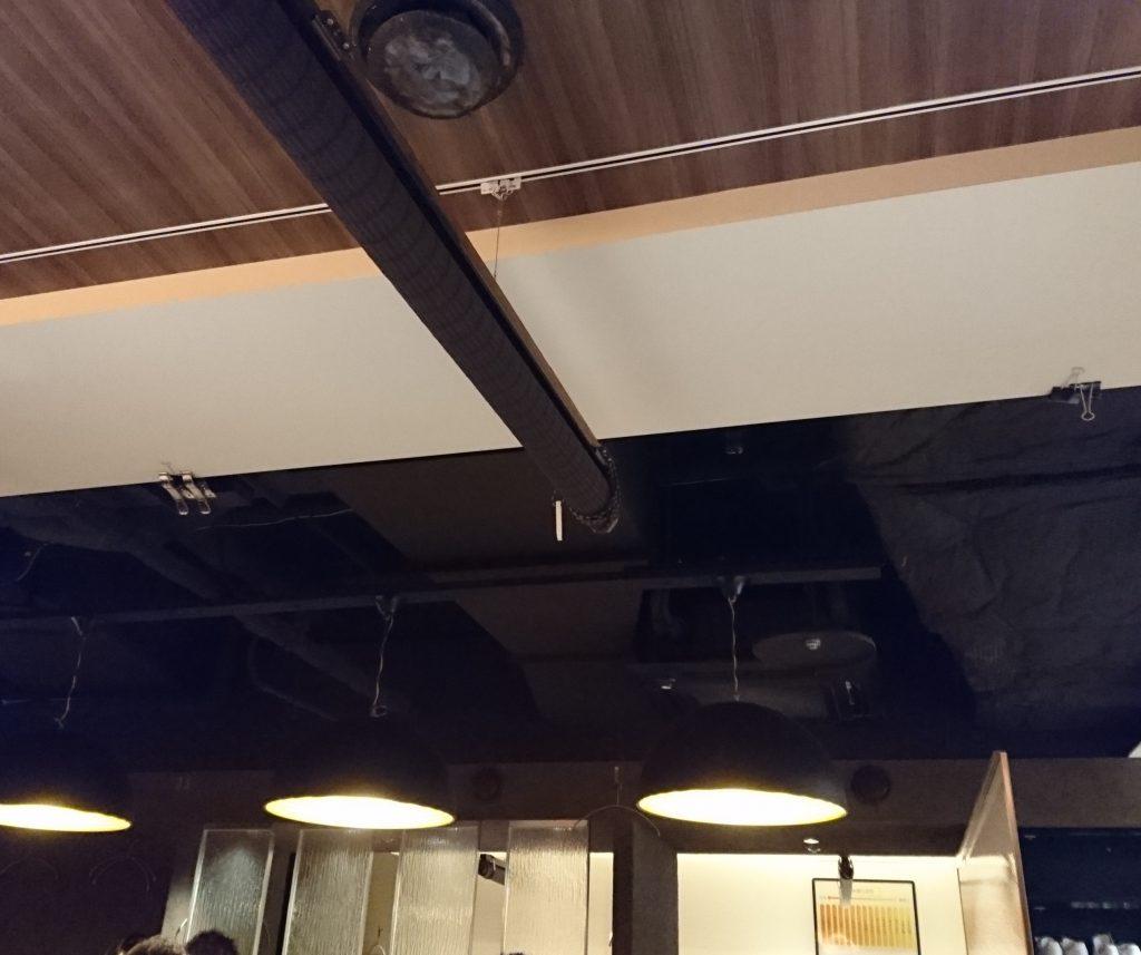 店内 天井の様子