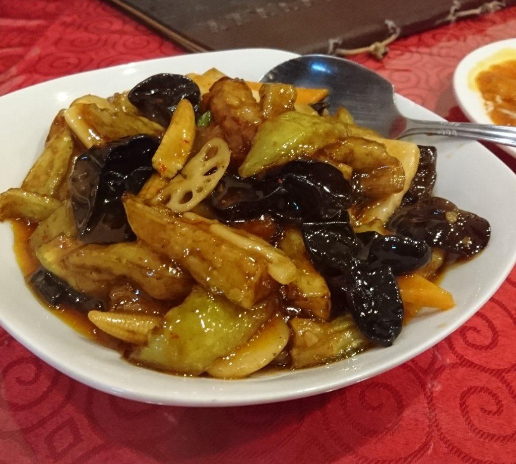 四川風茄子のピリ辛炒め