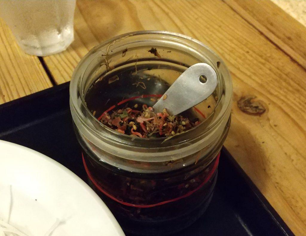 梅肉を使った生ふりかけ 瓶に入っている