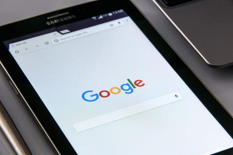 google検索画面 タブレット