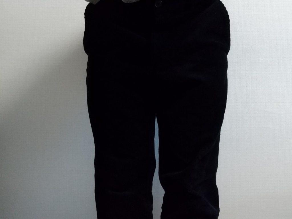 スマートアンクルパンツ 膝下からウエストにかけて 履いた状態