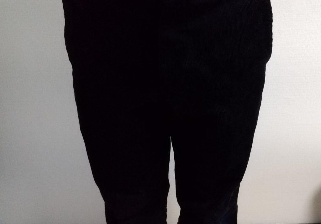 スマートアンクルパンツ 膝上 履いた状態