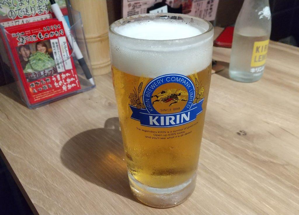 生ビール 麒麟