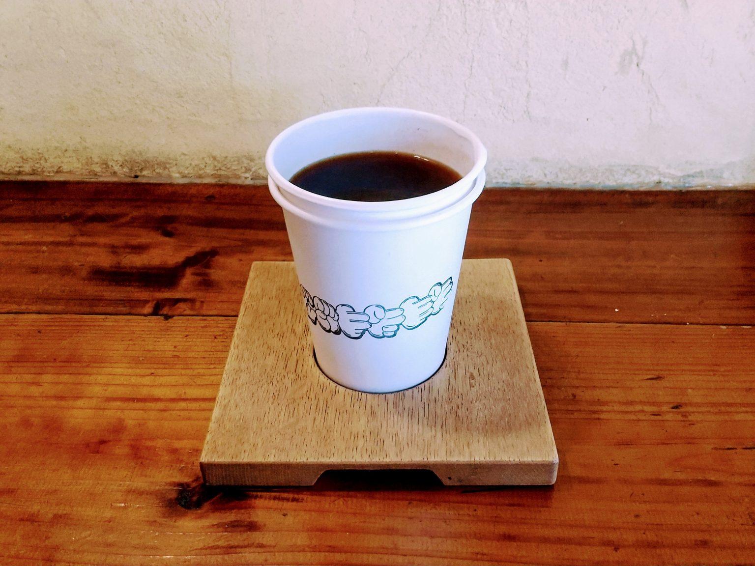 エチオピア コーヒー 壁側での撮影