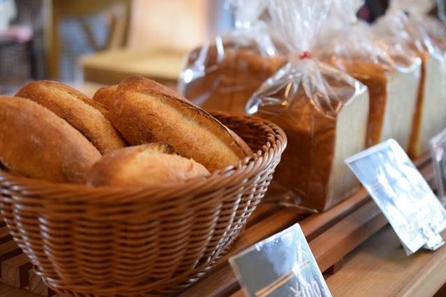 店頭に並ぶパン