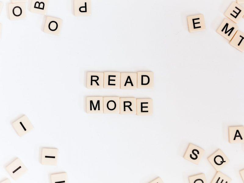 read more のブロックが置かれている